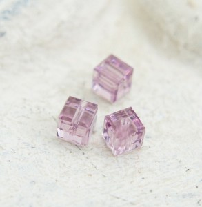 Swarovski Cube - Light Amethyst 3 mm [1 szt]