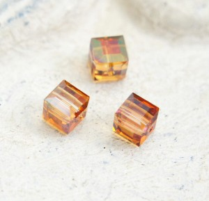 Swarovski Cube - Crystal Copper 6 mm [1 szt]