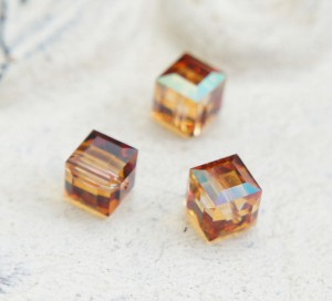 Swarovski Cube - Crystal Copper 8 mm [1 szt]